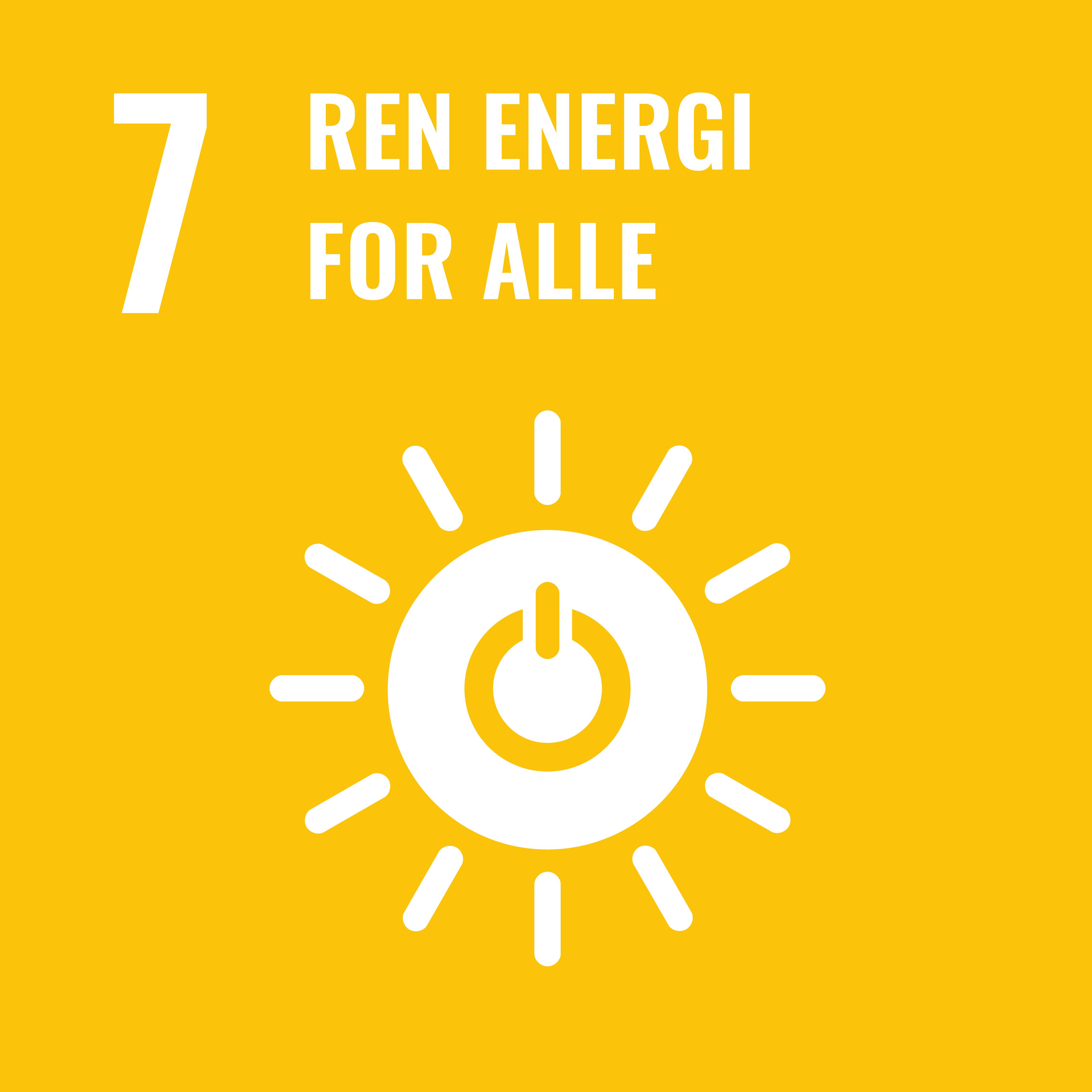Bærekraftsmål 7: Ren energi for alle
